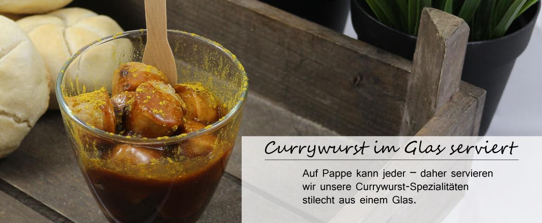 Teaser-Startseite - Currywurst im Glas serviert