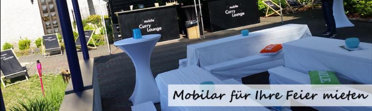 Mobiliar für Feier mieten