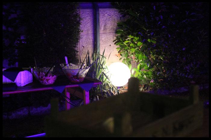 Salatbuffet-Beleuchtung