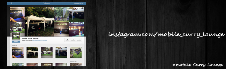 mobile Curry Lounge bei Instagram