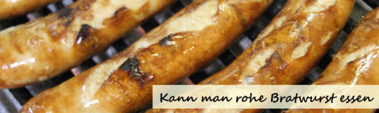 Rohe Bratwurst Brühen