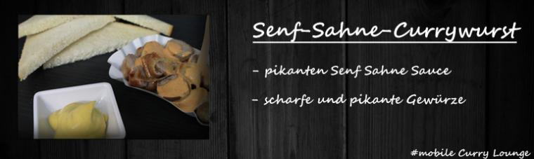 Senf-Sahne-Currywurst