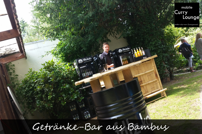 Getränke-Bar aus Bambus