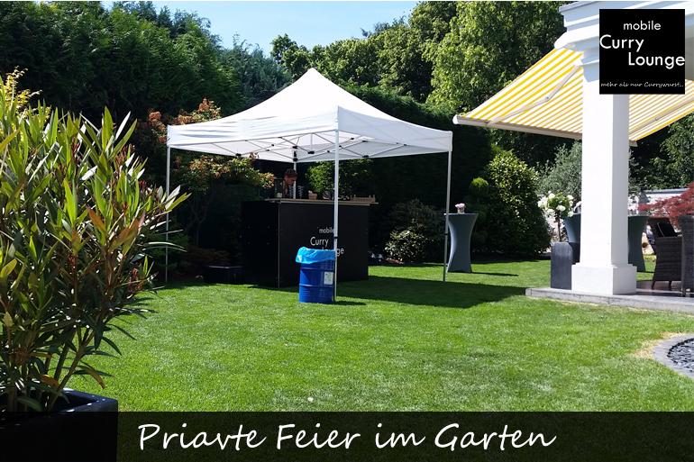 Priavte Feier im Garten