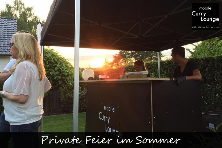 Private Feier im Sommer