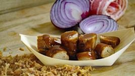 Vorschaubild BBQ-Bacon Currywurst