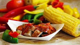 Vorschaubild Mexican-Salsa Currywurst